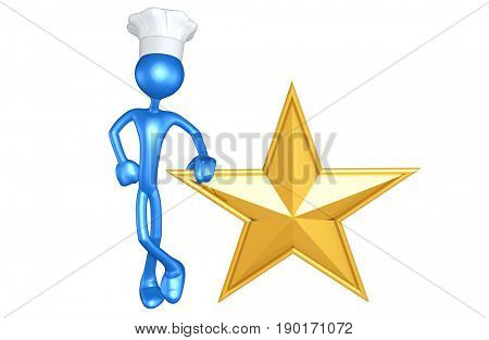 Chef The Original 3D Character Illustration With A Star