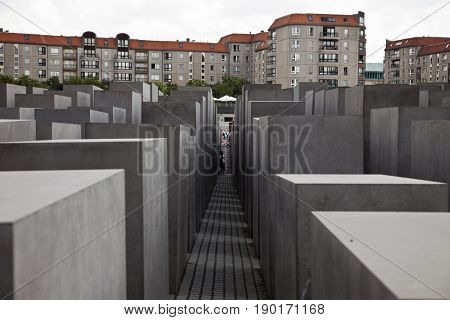 Rectangles in concrete city park, Berlin, Germany