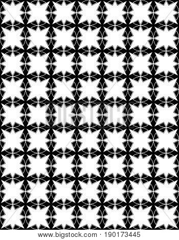seamless pattern in islamic style. arabic monochrome star pattern. background for islamic invitations and greeting cards. ornamental decoration in eastern style. ramadan kareem islamic - stock vector