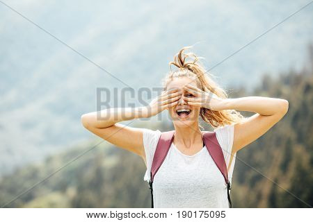Portrait Of Young Woman In The Nature