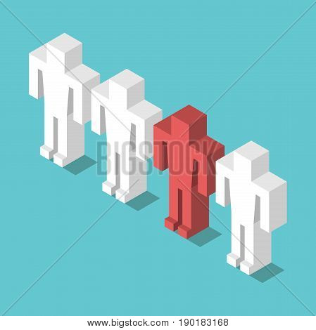 Isometric Red Unique Man