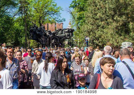 Almaty, Kazakhstan - May 9: Victory Day Celebration (victory In The World War Ii) In Almaty, Kazakhs