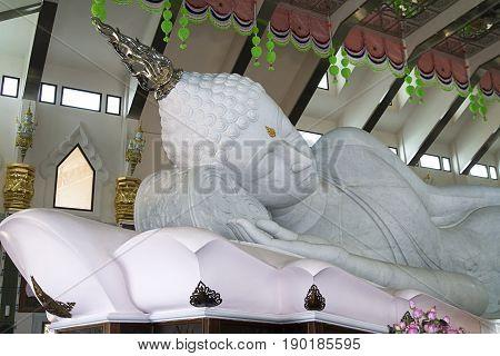 white marble Buddha spirituality temple udon thani