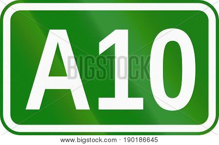 A10 Motorway Marking Sign Used In Romania