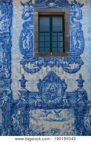 Detail Of Capela Das Almas - Chapel Of Souls Or Capela De Santa Catarina In Porto, Portugal