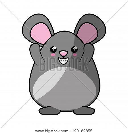 Little mouse kawaii cartoon icon vector illustration graphic design