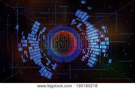Abstract technology-style vector background-code zero one in cyberspace.