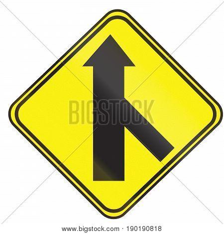 45 Degree 3 Way Intersection Ahead In Uruguay