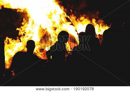 Israeli Youth Celebrate By A Bonfire The Jewish Holiday Of Lag Baomer A Festive Day On The Jewish Ca