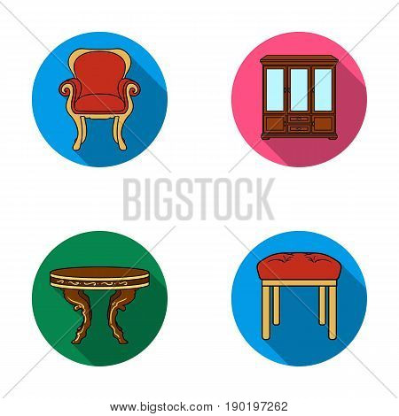 Furniture, interior, design, chair .Furniture and home interiorset collection icons in flat style vector symbol stock illustration .