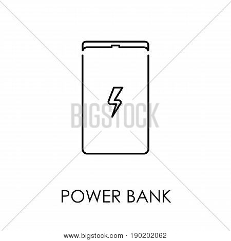 Power Bank Icon Symbol Flat Style Vector Illustration