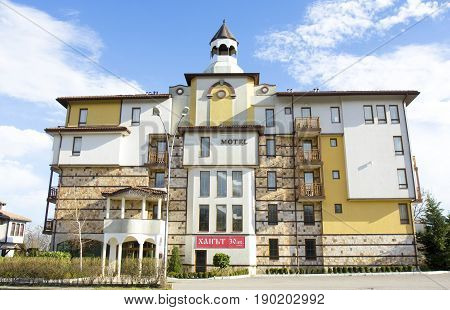 SAINTS CONSTANTINE AND HELENA BULGARIA - APRIL 02 2015: Motel Ivanchov Han in Saints Constantine and Helena the oldest first sea resort of Bulgaria exists from 19 century.