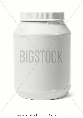Large Plastic Container on White Background