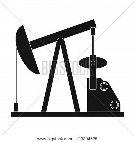 Oil pump.Oil single icon in black style vector symbol stock illustration .