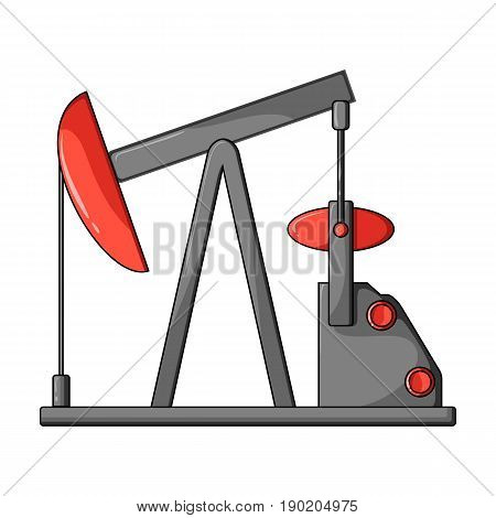 Oil pump.Oil single icon in cartoon style vector symbol stock illustration .
