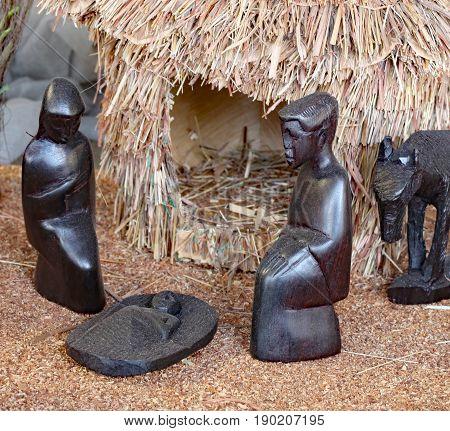 Nativity Scene With The Holy Family  From Tanzania