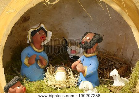 Nativity Scene With The Holy Family To Brazil In Latin American