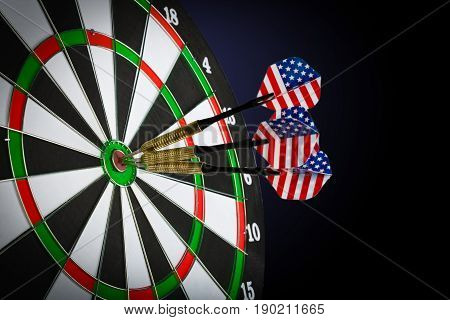 Success hitting target aim goal achievement concept