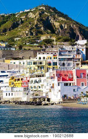 San angelo, on Ischia, island in bay of Naples, italy