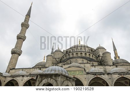 Detail Of The Blue Mosque In Istanbul, Turkey.