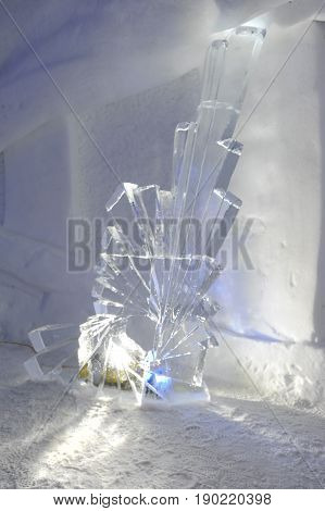 Ice Statue In An Igloo At Engelberg
