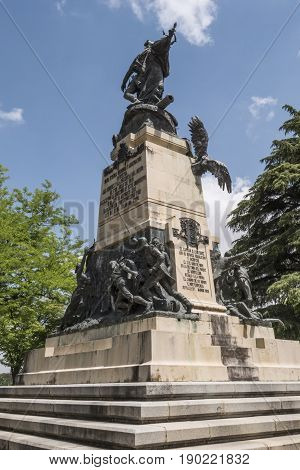 Monument To The Heroes Of May 2 And Homage To The Captains Pedro Velarde And Luis Daoíz On The Day O