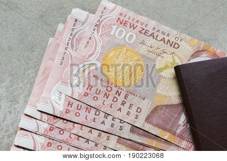 one hundred dollars bank note of new zealand