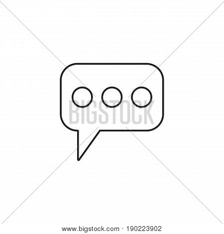 Message and speech bubbles line icon, Modern sign for mobile interface, vector graphics, a linear pattern on a white background, eps 10.