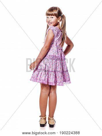 Little Girl Turning