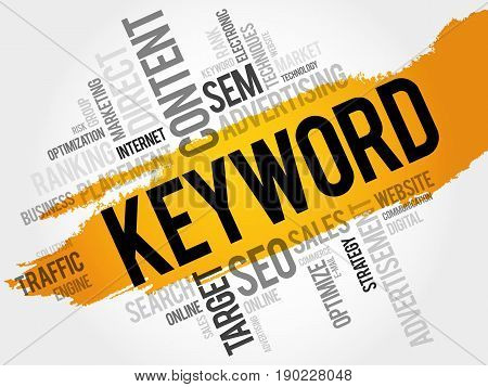 KEYWORD word cloud collage, business concept background