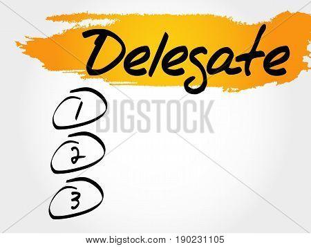 Delegate blank list , business concept background