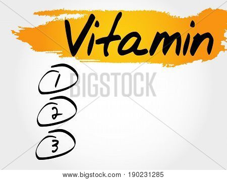 Vitamin Blank List, Fitness