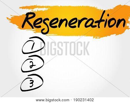 Regeneration Blank List, Fitness