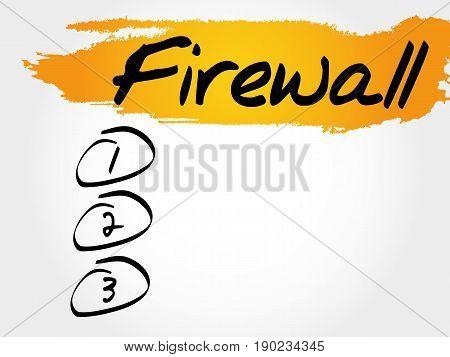 FIREWALL blank list , business concept background