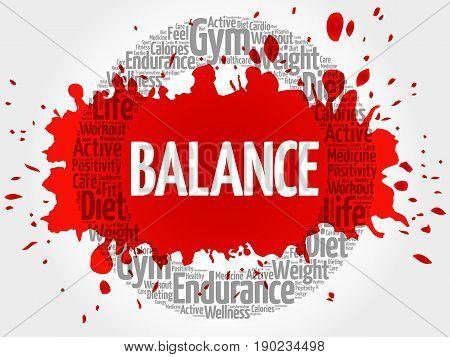Balance Circle Stamp Word Cloud