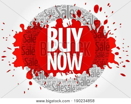 Buy Now Stamp Words Cloud