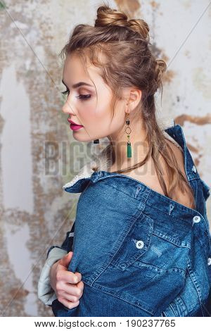 Glamorous Girl In Denim