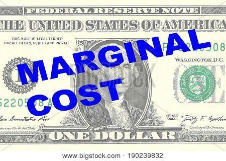 Marginal Cost - Financial Concept