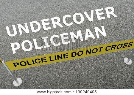 Undercover Policeman Concept