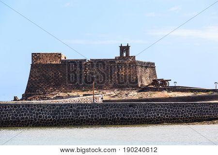 View Of Castillo De San Gabriel Located In Arrecife, Lanzarote.