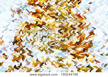 Abstract background with bright multicolored waves. Illustration