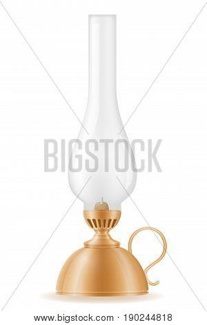 kerosene lamp old retro vintage icon stock vector illustration isolated on white background