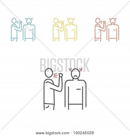 Airborne infection set. Line icon Vector sign