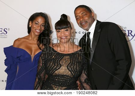 LOS ANGELES - JUN 6:  Vivian Nixon, Debbie Allen, Norm Nixon at the 42nd Annual Gracie Awards at the Beverly Wilshire Hotel on June 6, 2017 in Beverly Hills, CA