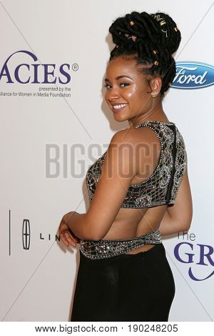 LOS ANGELES - JUN 6:  Rhyon Brown at the 42nd Annual Gracie Awards at the Beverly Wilshire Hotel on June 6, 2017 in Beverly Hills, CA