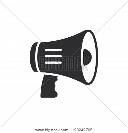 Megaphone bullhorn icon vector filled flat sign solid pictogram isolated on white. Symbol logo illustration. Pixel perfect