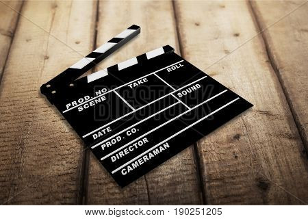 Board clap entertainment shot scene action black