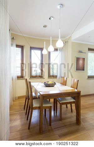 Dinning Area With Classic Wooden Table