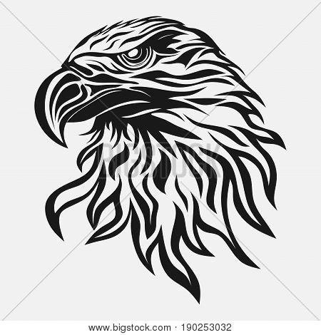 eagle head abstract image freedom symbol vector image