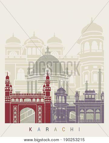 Karachi Skyline Poster